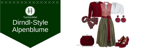 Alpenblume Dirndl Outfit