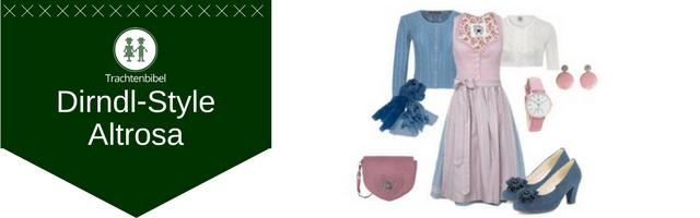 Altrosa Dirndl Outfit