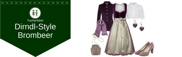 Brombeer Dirndl Outfit