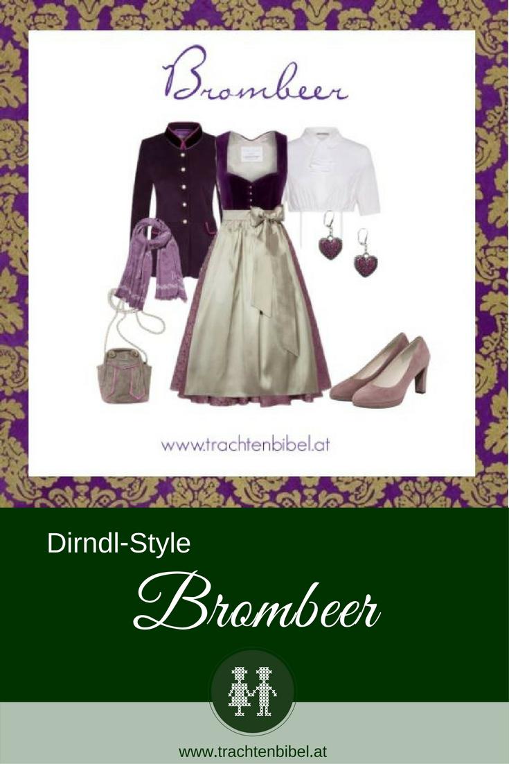 Ein elegantes Dirndl mit Samtmieder und einer taupefarbenen Seidenschürze wird mit passenden Accessoires zum perfekten Fest-Outfit. #dirndlstyle