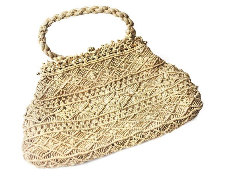 Makramee Tasche Vintage