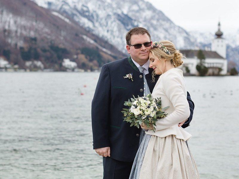 Trachtenhochzeit Im Salzkammergut Brautpaar