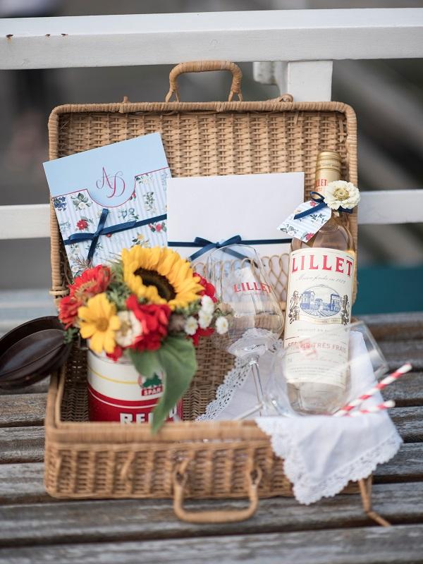 Verlobung Traunsee Picknickkorb