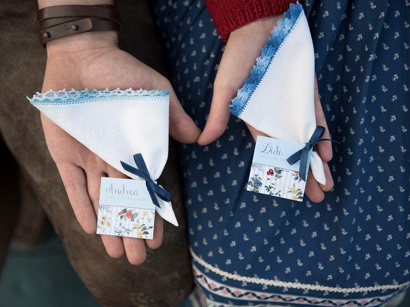 Verlobung Traunsee Taschentücker