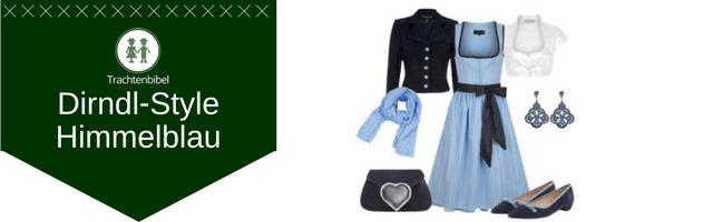Himmelblau Dirndl Outfit
