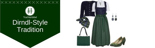 Dirndl Outfit Dirndl Grün Blau