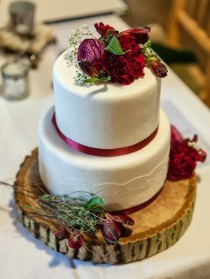 Hochzeitstorte auf Baumscheibe