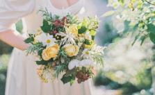 Brautstrauß in Gelb und Weiß