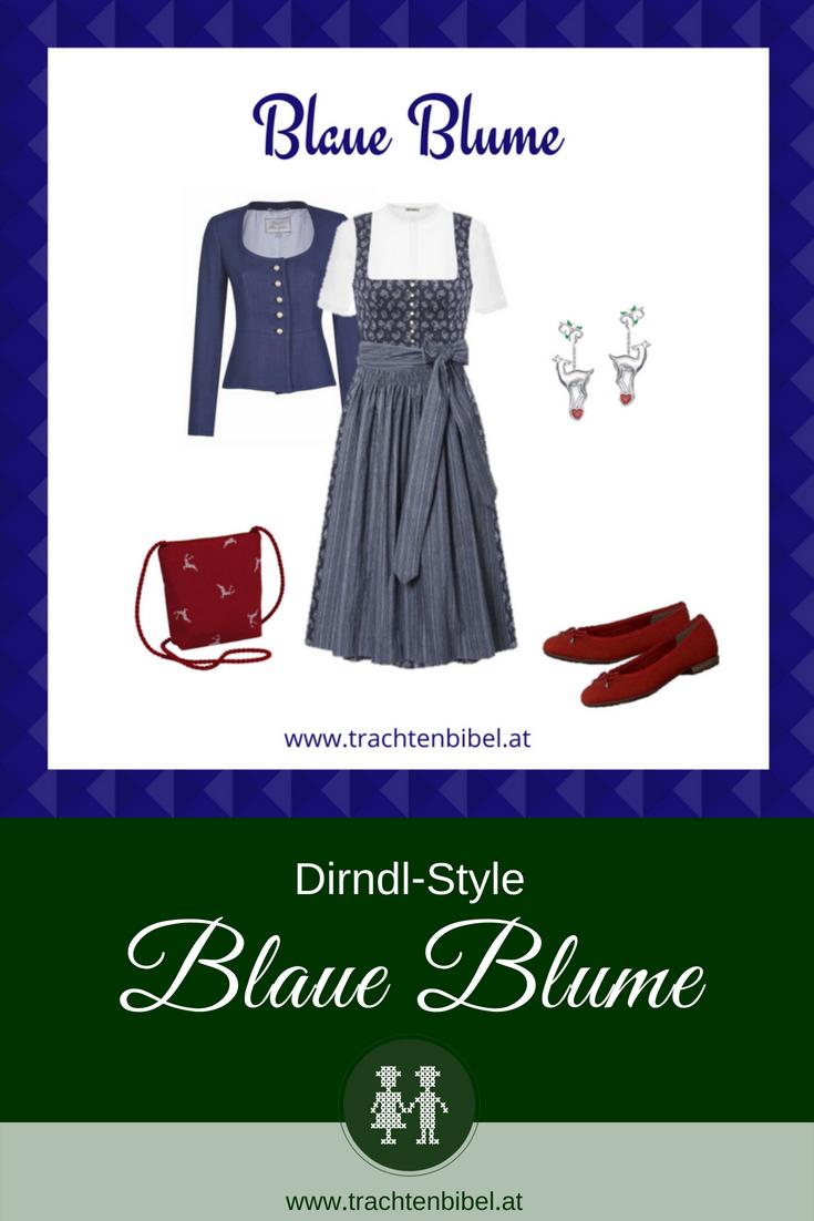 Dirndl Blau mit passenden Accessoires