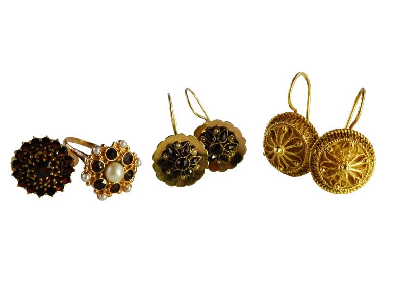 Trachtenschmuck Halsbandaffaire Ohrringe Historisch