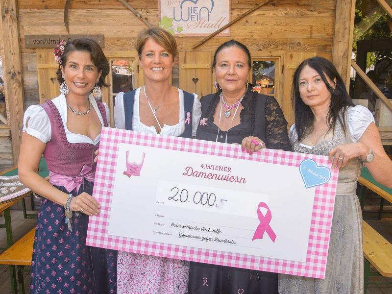 20.000 Euro Spendensumme bei der Wiener Damenwiesn 2018