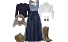 Dirndl Outfit Blaues Paradies