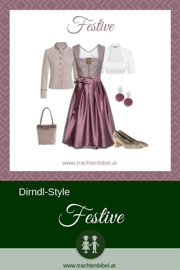 Dirndl Style Festive Dirndl beige altrosa