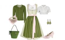 Dirndl Style My Fair Lady Dirndl Alpenfee in Grün und Rosa