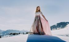 Wintertraum Im Dirndl Brautstrauss (1)